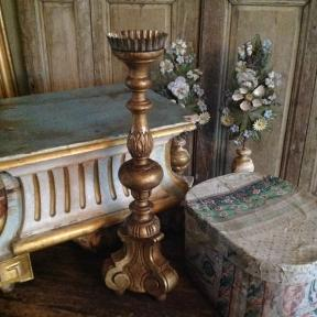 Beautiful wooden French candleholder