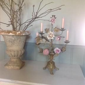French candelabra with flowers (1)