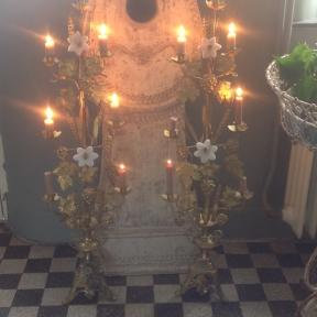 Tall size French candelabra's