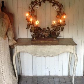 beautiful French bow candelabra